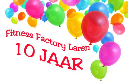 Ballonen 10 jaar - Fitness Factory Laren